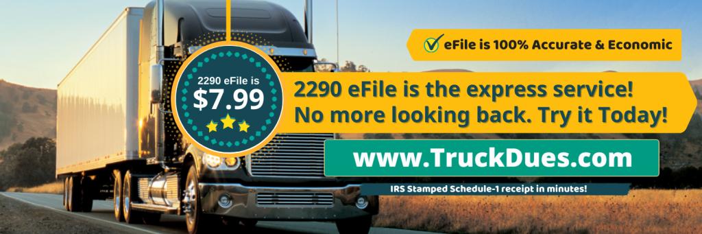 Truck tax 2290 efile