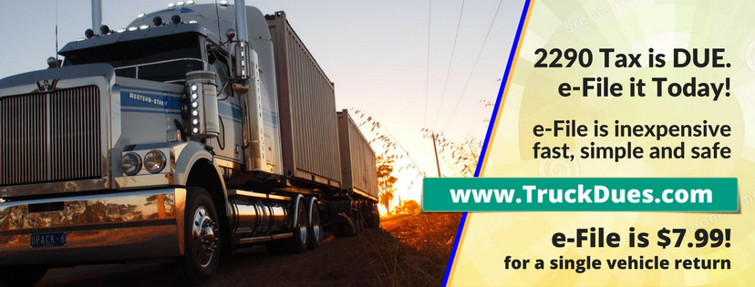 heavy highway vehicle use tax form 2290